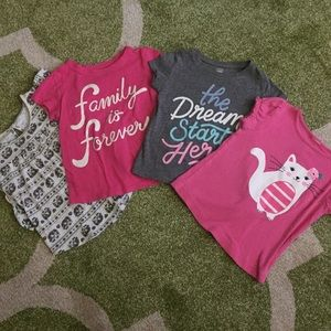 Other - Bundle of 4 Girls Size 3T T-Shirts